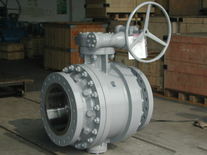 Three pieces body trunnion mounted ball valves