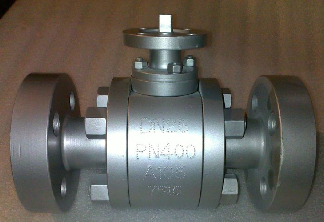 DIN three pieces forged steel trunnion mounted ball valves