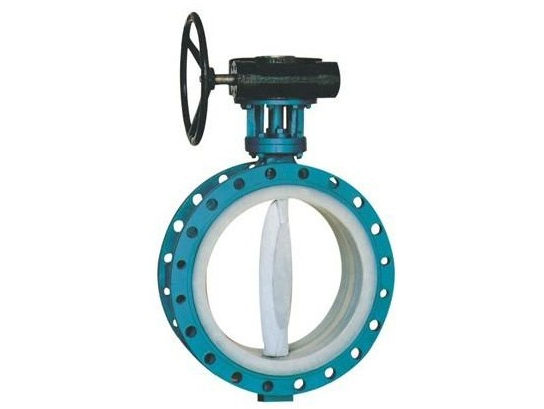 Double flanged fluorine lined center line butterfly valves