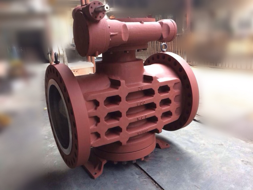 600#RF 26'' Inverted pressure balance lubricated oil seal plug valves