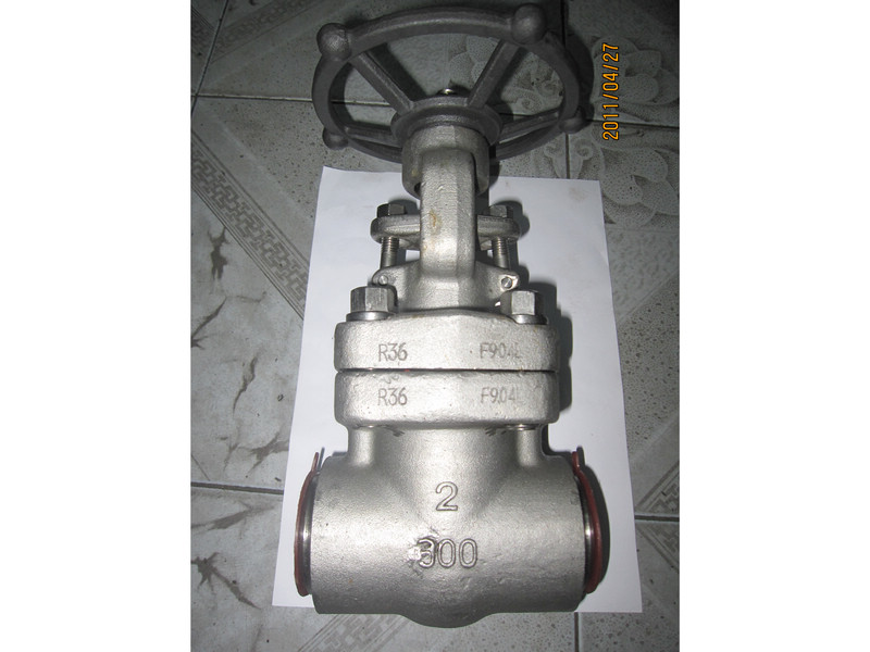 API 602 F904L forged gate valves