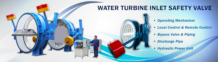 water turbine inlet counter weight butterfly valve