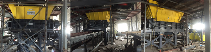 MSW shredder for waste to energy power station