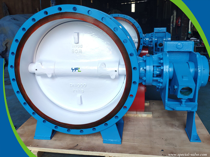 hydraulic slow closing butterfly valve for hydro turbine