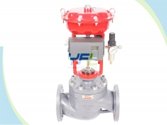 Pressure balanced low noise globe control valves