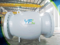 API 6D Axial flow check valve