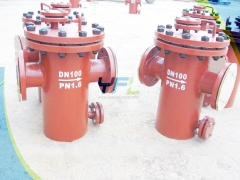 DIN upper and lower basket type strainer