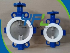 Partial PTFE Lined butterfly valve