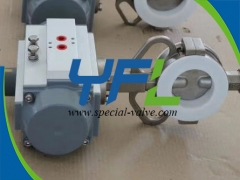 Pneumatic operated Teflon Lined butterfly valve