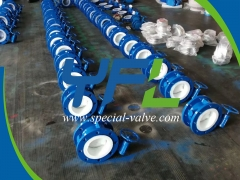 Flanged F4 Lined butterfly valve