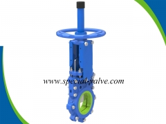 Polyurethane Lined Knife gate valve for Mining by YFL
