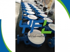 150LBS PTFE  Lined butterfly valve