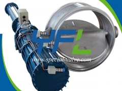 Pneumatic Quick Close Butterfly Valve by YFL