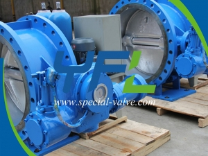 Hydraulic slow closing butterfly check valve with accumulator by YFL