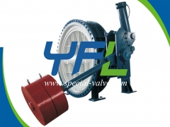 Hydraulic slow closing butterfly check valve