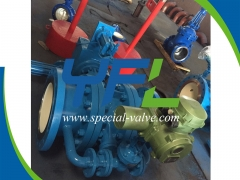 PN40 DN350 Hydraulic Butterfly Valve With Power Pack by YFL