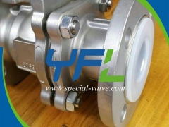 Stainless Steel Body PFA Lined Ball Valve by YFL