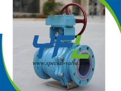 Gear Opearted PTFE Lined Ball Valve by YFL