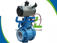 Corrosion resistant PTFE Lined Ball Valves by YFL