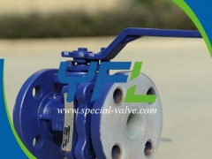 PFA Lined Ball Valve For Chemical by YFL