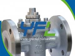 PN16 DN50 CF8 Body FEP Lined Plug Valve by YFL
