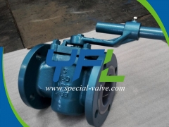 150#RF 3'' WCB Body PFA Lined Plug Valve by YFL