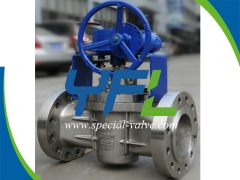 600#RF 6'' PTFE Sleeved Plug Valve by YFL