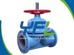 Manual GG25 Body PFA Lined Diaphragm Valve by YFL