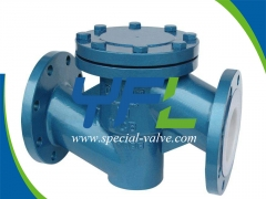 WCB Body FEP Lined Lift Type Check Valve by YFL