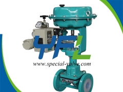 Pneumatic PFA Lined Diaphragm Valve by YFL